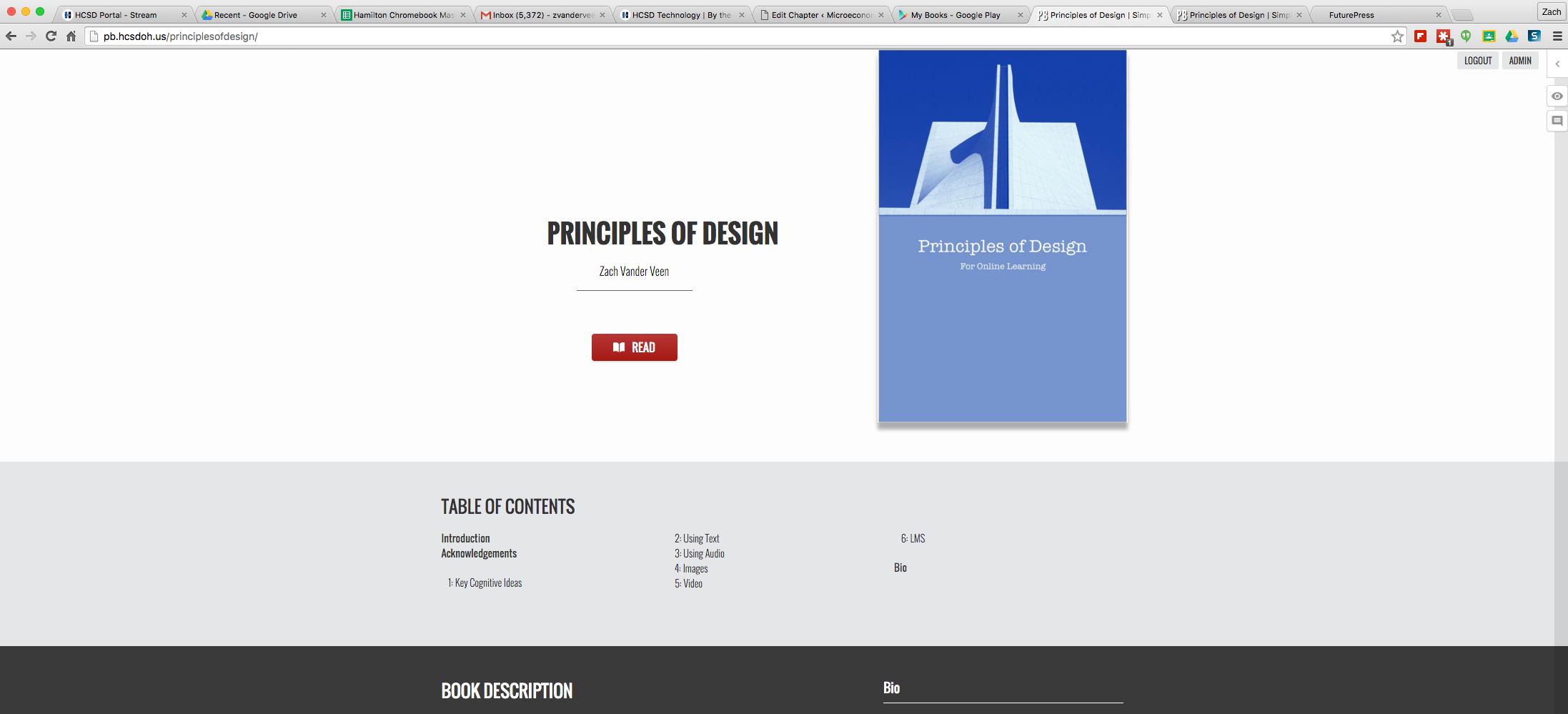 Framework for Online Textbooks – HCSD Technology